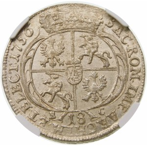 August III Sas, Ort 1756 EC, Lipsk – szerokie popiersie