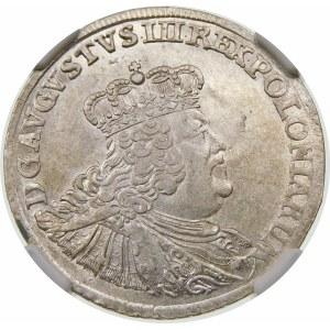 August III Sas, Ort 1756 EC, Lipsk – małe popiersie – odmiana