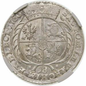 August III Sas, Ort 1756 EC, Lipsk – małe popiersie – nieopisana
