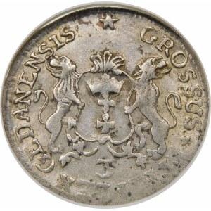 August III Sas, Trojak 1758, Gdańsk