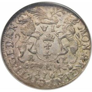 August III Sas, Szóstak 1762 REOE, Gdańsk