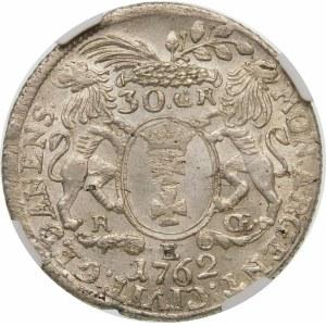 August III Sas, 30 groszy 1762 REOE, Gdańsk