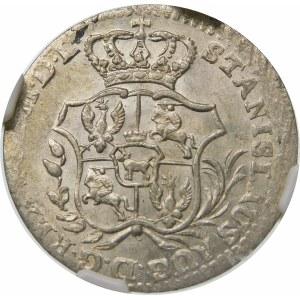 Stanisław August Poniatowski, 2 grosze srebrne (półzłotek) 1766 FS, Warszawa