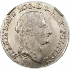 Stanisław August Poniatowski, Złotówka 1794 MV, Warszawa – bez kreski ułamkowej