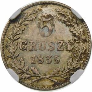 Wolne Miasto Kraków, 5 groszy 1835, Wiedeń