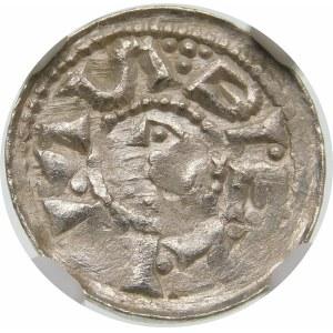 Bolesław II Śmiały, Denar – Książę na koniu – krzyż