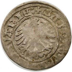 Zygmunt I Stary, Półgrosz 1518, Wilno – Pogoń bez pochwy – Lustrzane D – nieopisany wariant