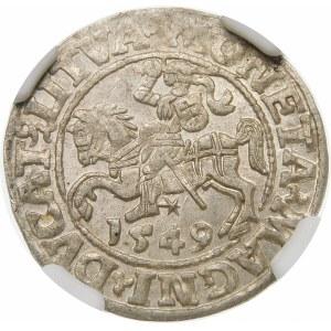 Zygmunt II August, Półgrosz 1549, Wilno – LI/LITVA