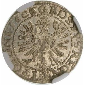 Zygmunt III Waza, Grosz 1606/5, Kraków – przebitka daty