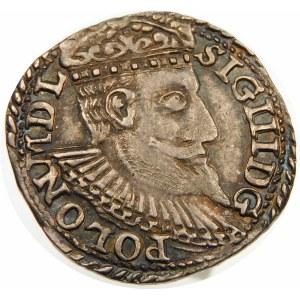 Zygmunt III Waza, Trojak 1598, Olkusz – duża popiersie – korona