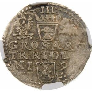 Zygmunt III Waza, Trojak 1598, Olkusz – popiersie z 1596 – nieopisana odmiana
