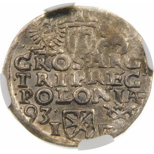 Zygmunt III Waza, Trojak 1593, Poznań – niska korona