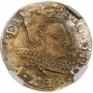 Zygmunt III Waza, Trojak 1598, Wschowa – kwiatek, I-F – SIGI 3 ... PO