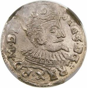 Zygmunt III Waza, Trojak 1597, Lublin – data przedzielona Orłem – super