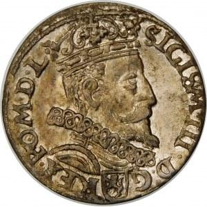 Zygmunt III Waza, Trojak 1602, Kraków – cyfra 2 w dacie w lustrzanym odbiciu