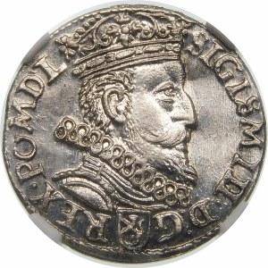 Zygmunt III Waza, Trojak 1601, Kraków – głowa w prawo – piękna