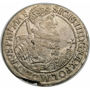 Zygmunt III Waza, Ort 1621, Bydgoszcz – PRV MAS – tarcza w czapce i z pagonami – rzadka