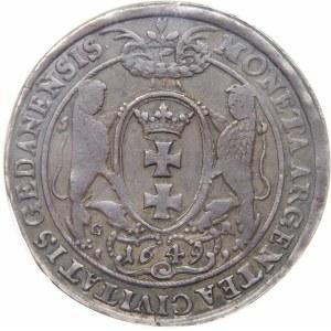 Jan II Kazimierz, Talar 1649 GR, Gdańsk