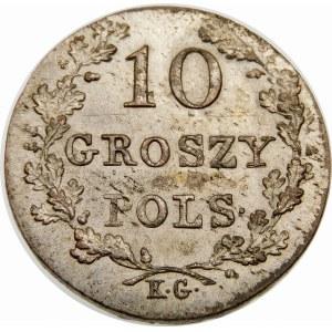 Powstanie Listopadowe, 10 groszy 1831 – łapy Orła zgięte – piękna