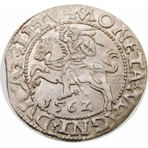 Zygmunt II August, Półgrosz 1562, Wilno – Ogon podniesiony – DVX L/LITV