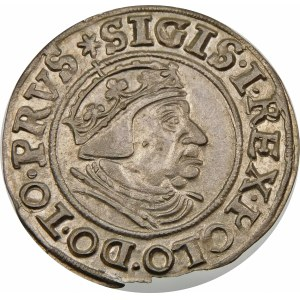 Zygmunt I Stary, Grosz 1539, Gdańsk – bez kropki przed datą