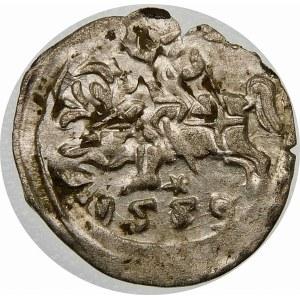 Zygmunt II August, Denar 1559, Wilno – przebitka daty 5/6