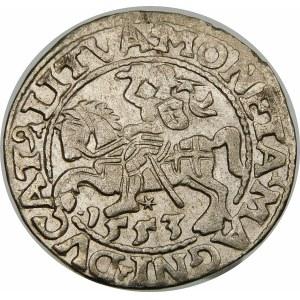 Zygmunt II August, Półgrosz 1553, Wilno – LI/LITVA