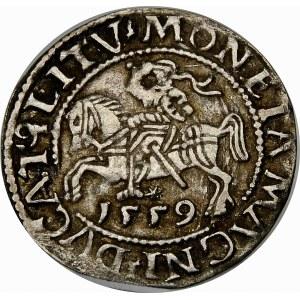 Zygmunt II August, Półgrosz 1559, Wilno – L/LITV