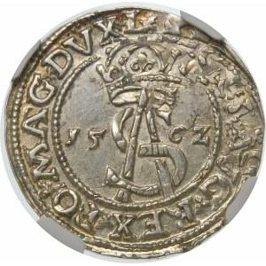 Zygmunt II August, Trojak 1562, Wilno – Pogoń bez tarczy – L/L