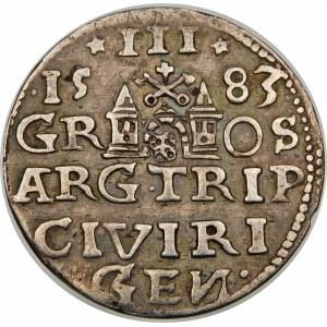 Stefan Batory, Trojak 1583, Ryga – lilie