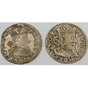 Zygmunt III Waza, Grosz 1626, Wilno – Pogoń nie w tarczy – warianty – zestaw (szt. 2)