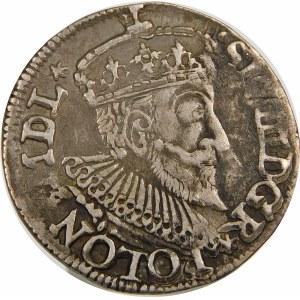 Zygmunt III Waza, Trojak 1594, Olkusz – bez znaku w otoku – nieopisana odmiana