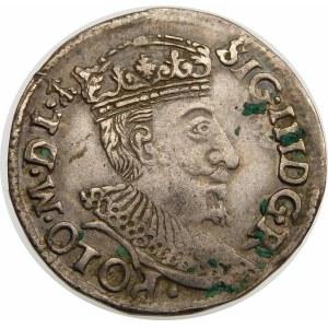 Zygmunt III Waza, Trojak 1595, Olkusz – ze znakiem w otoku
