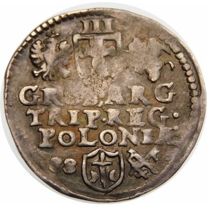Zygmunt III Waza, Trojak 1588, Poznań – małe popiersie, data z lewej – rzadka