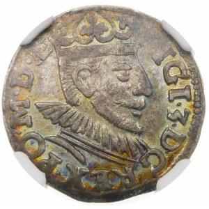 Zygmunt III Waza, Trojak 1591, Poznań – korona z lilią, I - F