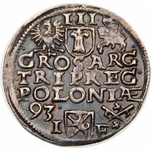 Zygmunt III Waza, Trojak 1593, Poznań – wysoka korona