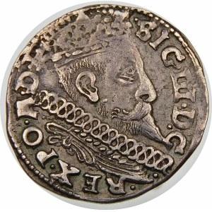 Zygmunt III Waza, Trojak 1598, Poznań – kwiatek, I-F, H-R – nieopisana odmiana