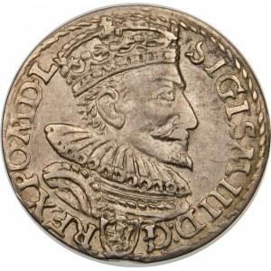 Zygmunt III Waza, Trojak 1594, Malbork – pierścienie zamiast O