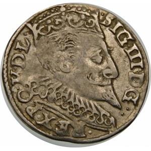 Zygmunt III Waza, Trojak 1597, Bydgoszcz – bez kokardy, napis w trzech wierszach
