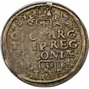 Zygmunt III Waza, Trojak 1596, Wschowa – korona płaska, kwiatki – SIG III