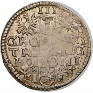 Zygmunt III Waza, Trojak 1596, Wschowa – kwiatek i ruszt – SIGI 3