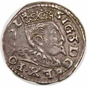 Zygmunt III Waza, Trojak 1596, Lublin – data przedzielona Lwem