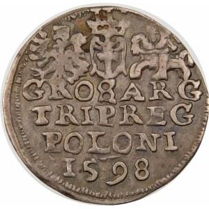 Zygmunt III Waza, Trojak 1598, Lublin – pełna data