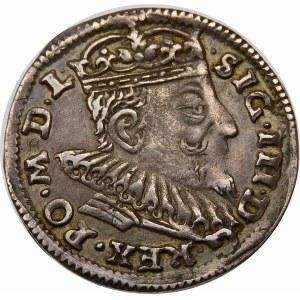 Zygmunt III Waza, Trojak 1593, Wilno – herb Chalecki z rozetkami po bokach – hybryda