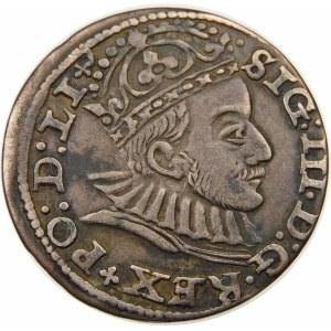 Zygmunt III Waza, Trojak 1588, Ryga – małe popiersie