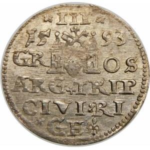 Zygmunt III Waza, Trojak 1593, Ryga – LIV