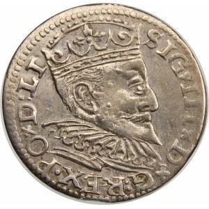 Zygmunt III Waza, Trojak 1595, Ryga – LI – nieopisany wariant