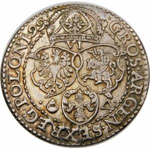 Zygmunt III Waza, Szóstak 1599, Malbork – duża głowa króla