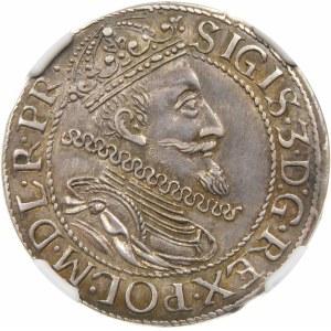 Zygmunt III Waza, Ort 1611, Gdańsk – kropka za łapą niedźwiedzia – piękna