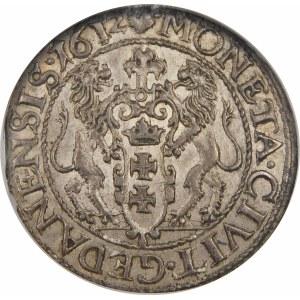 Zygmunt III Waza, Ort 1612, Gdańsk – kropka za łapą niedźwiedzia